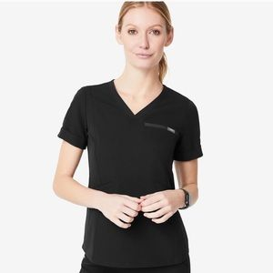 Figs Zinga Tapered Scrub Top Black size XL